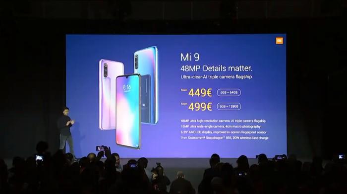 Peluncuran Xiaomi Mi 9. Foto: dok. Xiaomi via YouTube