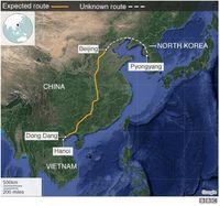 Prediksi rute perjalanan Kim Jong Un
