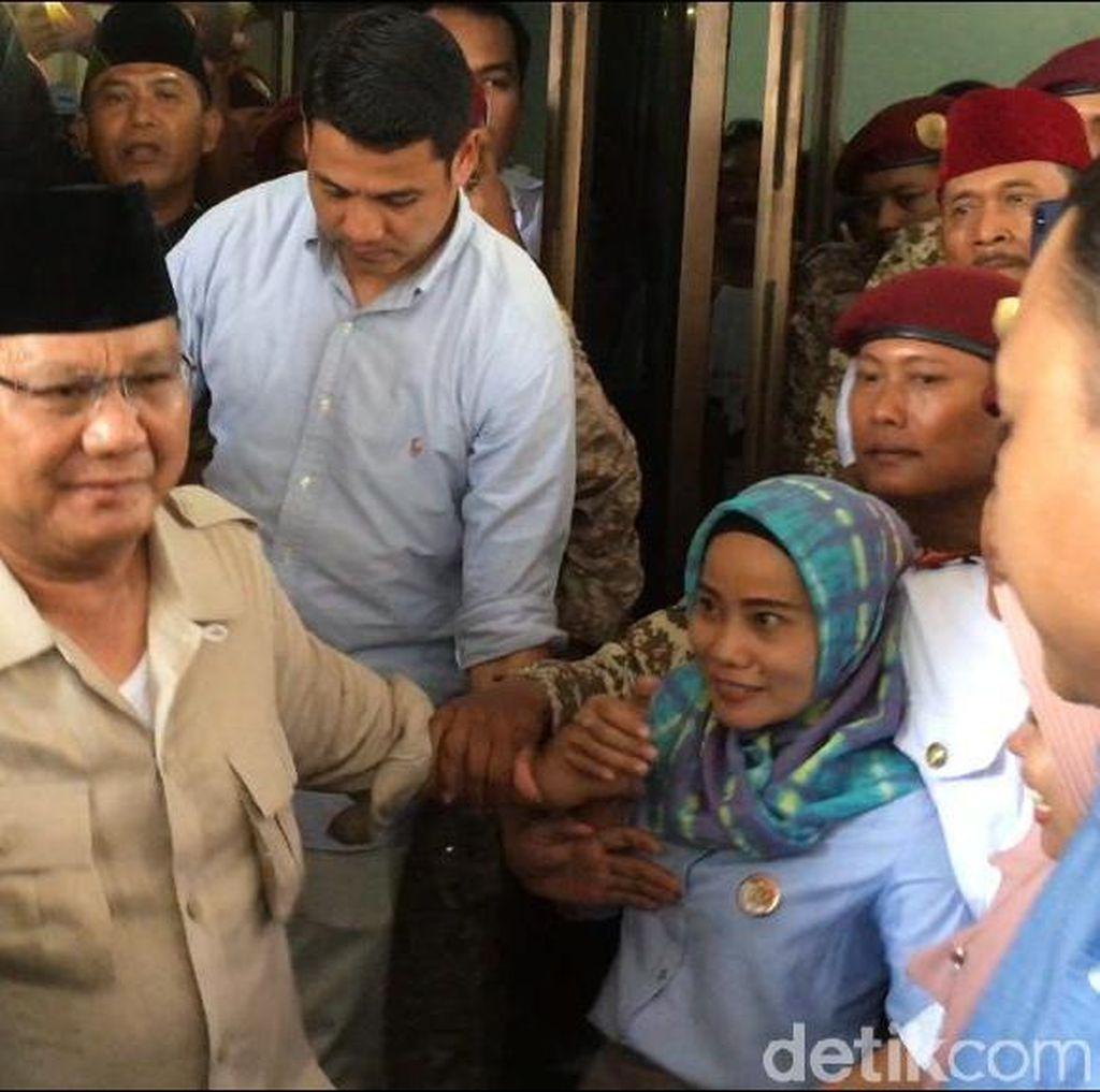 Kampanye di Mojokerto, Prabowo Dialog dan Terima Curhatan Petani