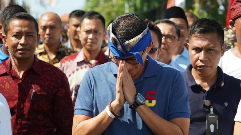 Ditolak Warga Desa Tabanan Bali, Sandiaga Batalkan Kampanye
