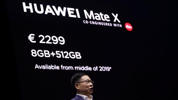 Huawei Resmi Perkenalkan Mate X, Ponsel Layar Lipat 5G