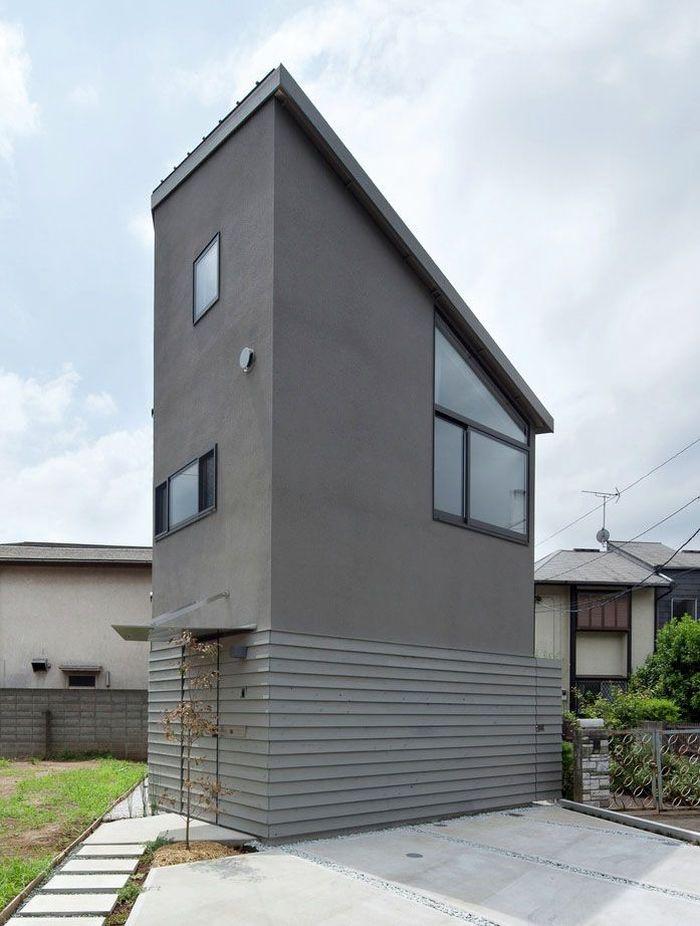 Rumah ini lebarnya memang cuma 6,5 meter dengan ketinggian 13 meter. Istimewa/Masayoshi Ishii/Archdaily.