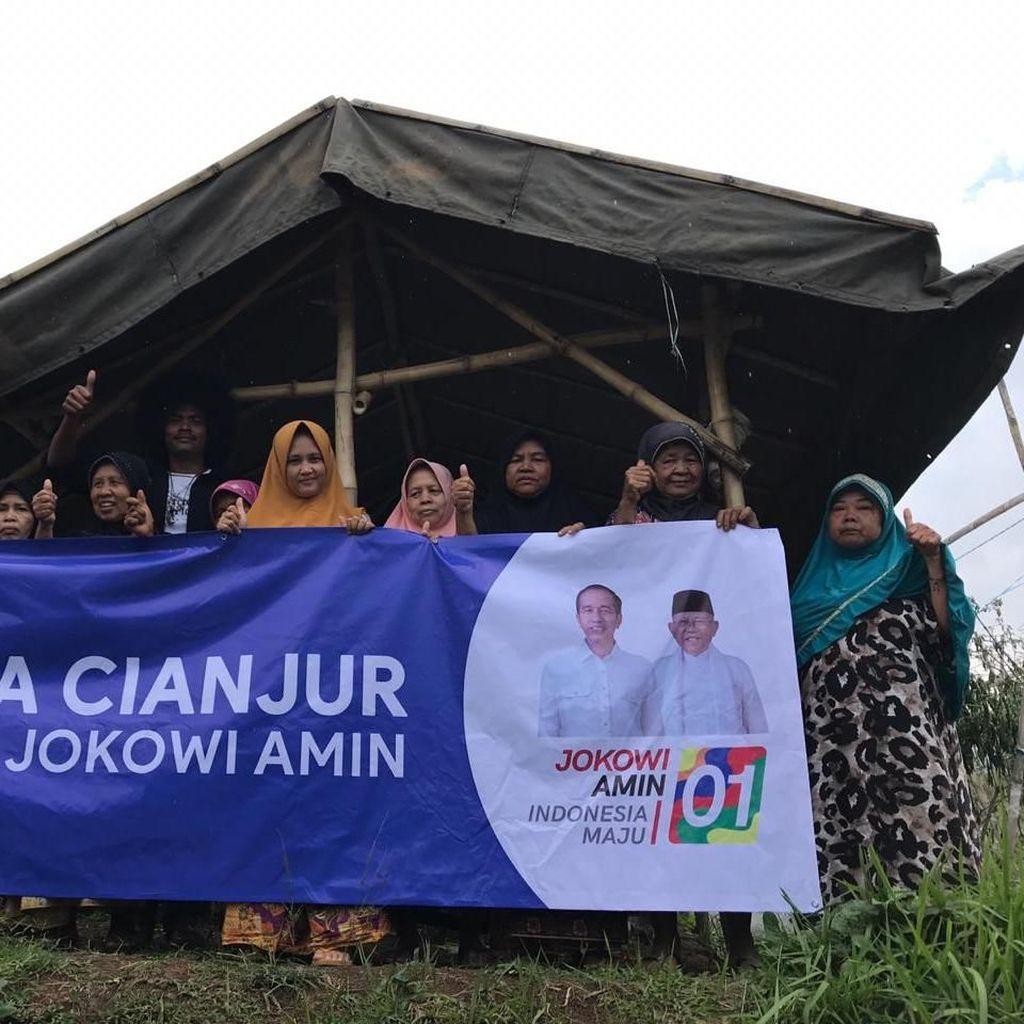 Berharap Diperhatikan, Janda-janda Cianjur Dukung Jokowi-Maruf