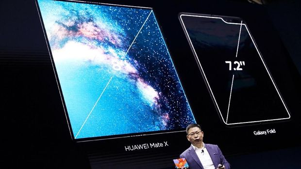 Huawei Pamerkan Mate X, Sebuah Ponsel Layar Lipat 5G