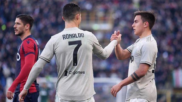 Paulo Dybala dirumorkan meninggalkan Juventus karena keberadaan Cristiano Ronaldo. (
