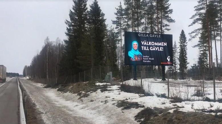 Papan Iklan di Kota Swedia Tampilkan Wanita Berhijab, Warga Protes