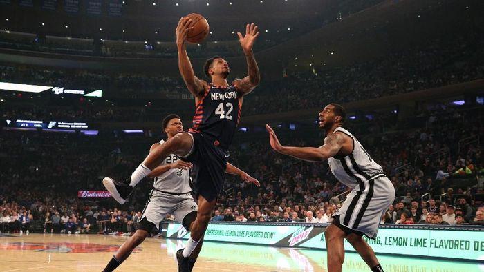 New York Knicks menang atas San Antonio Spurs untuk memutus rentetan kekalahan kandangnya di NBA (Foto: Brad Penner-USA TODAY Sports)