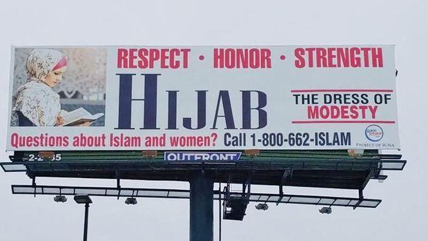 Billboard Hijab Curi Perhatian di Amerika, Ajak Warga Menghargai Hijabers