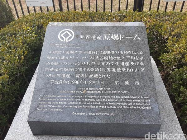 Genbaku Dome merupakan titik pertama yang akan traveler temui untuk memulai napak tilas tentang serangan bom nuklir di Jepang. (Bonauli/detikTravel)