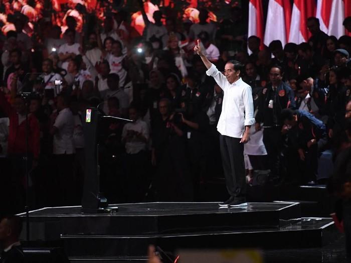 Capres Joko Widodo di acara Konvensi Rakyat. (Foto: ANTARA FOTO/Akbar Nugroho Gumay)