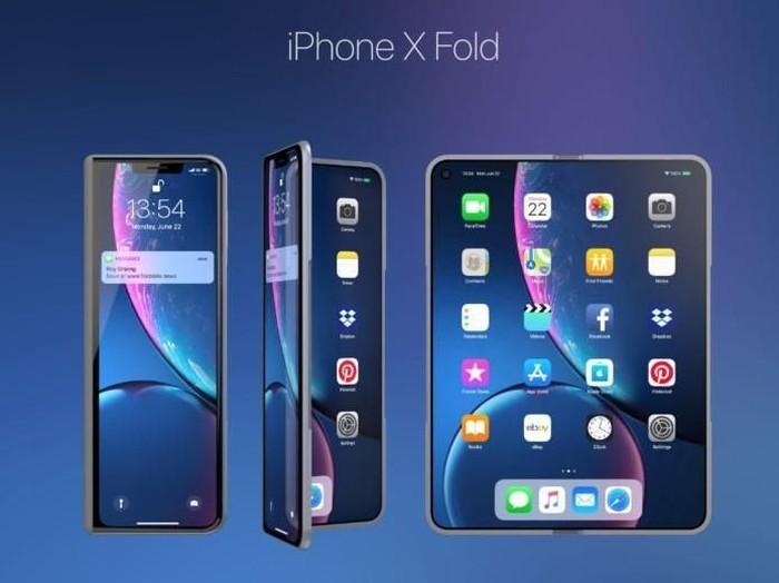 Konsep iPhone X Fold. Foto: Foldable News