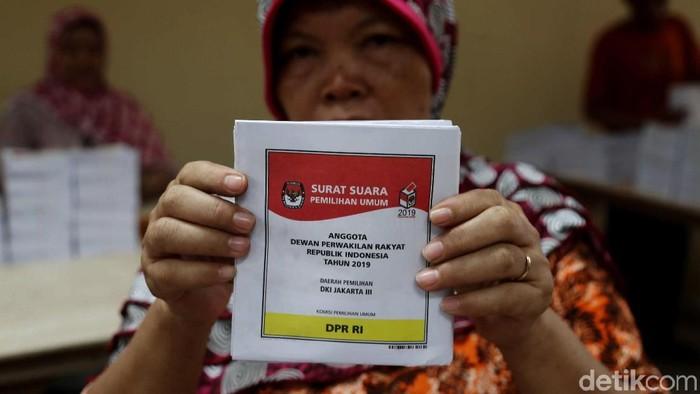 Ilustrasi surat suara (Pradita Utama/detikcom)