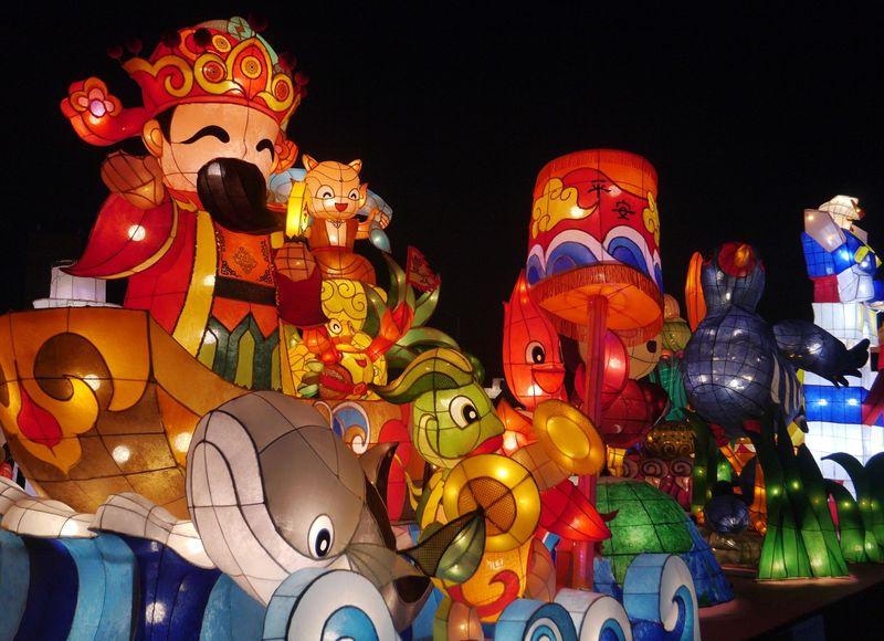 Taiwan Lantern Festival merupakan event tahunan menyambut Cap Go Meh (Kurnia/detikTravel)
