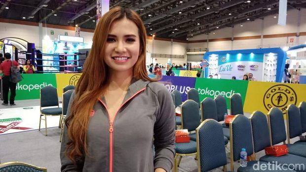 Maria Vania saat ditemui di acara Goifex baru-baru ini.