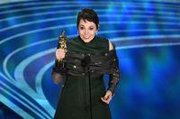 Olivia Colman di Oscars 2019.