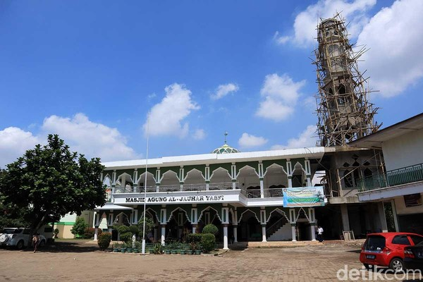 Masjid Al Jauhar Yasfi yang lokasinya berada persis di samping GKP Kampung Sawah (Randy/detikTravel)