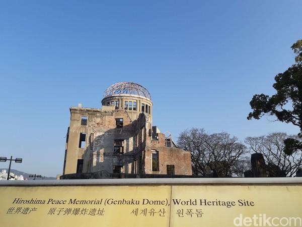 UNESCO pada tahun 1996 menetapkan status Situs Warisan dunia untuk A-bomb Dome. Bangunan ini pun resmi menjadi Hiroshima Peace Memorial. (Bonauli/detikTravel)