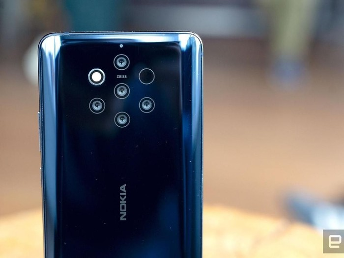 Nokia 9 PureView. Foto: Chris Velazco/Engadget