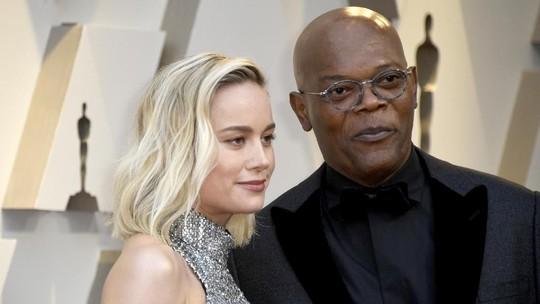 Aksi Captain Marvel, Brie Larson dan Samuel L Jackson di Oscar 2019
