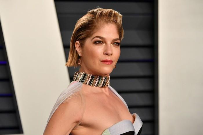 Malam Oscar 2019 jadi kesempatan bagi Aktris berusia 46 tahun ini untuk tampil pertama kalinya di depan publik setelah terdiagnosis multiple sclerosis Oktober lalu. (Foto: Dia Dipasupil/Getty Images)