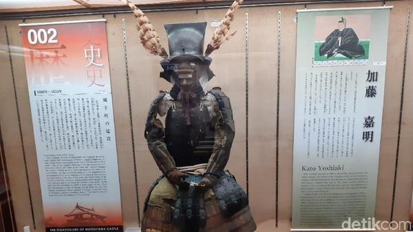 Ruang di Kastil Matsuyama dibuka untuk pameran. Benda-benda yang dipamerkan kebanyakan peninggalan dari bangsawan tuan rumah. (Bonauli/detikTravel)