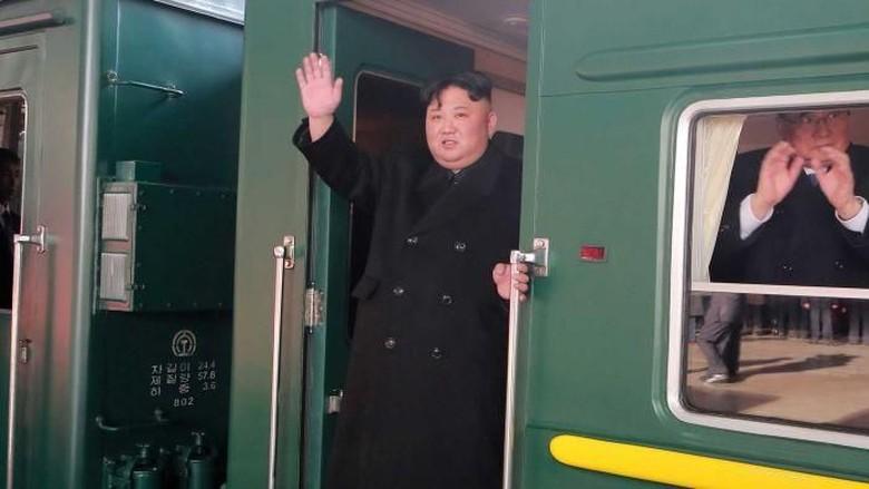 Kim Jong-Un naik kereta dari Korea Utara ke Vietnam  (ABC Australia/Reuters)