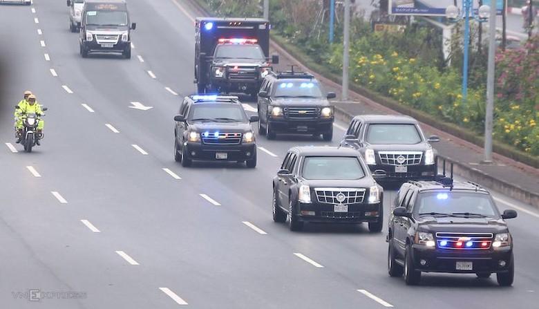 Iring-iringan Donald Trump. Foto: VN Express