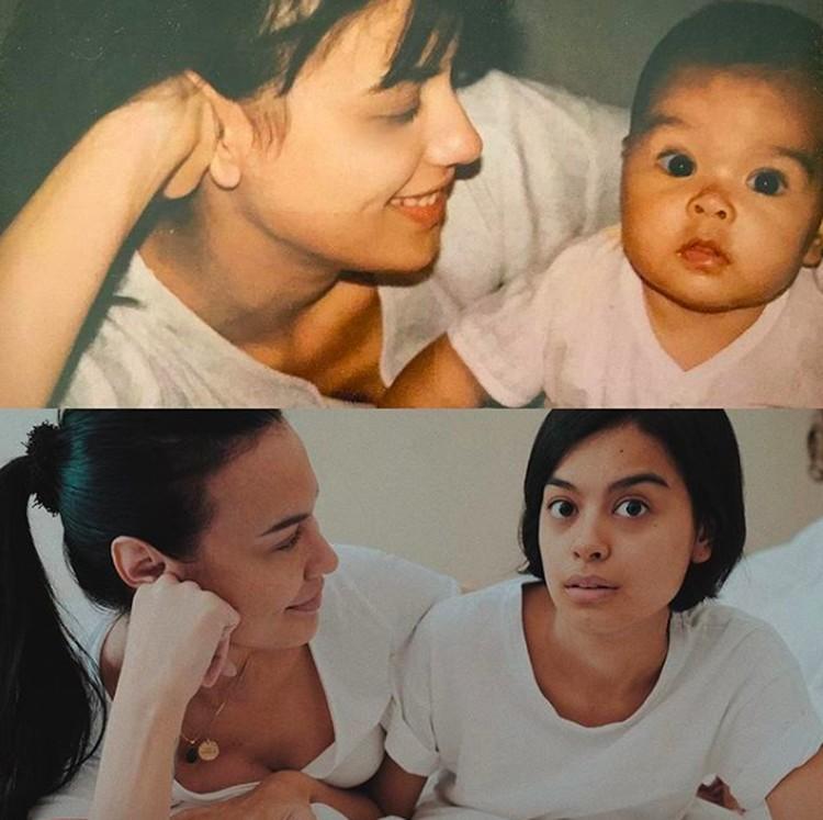 Beberapa saat lalu ramai tantangan mengunggah foto lawas. Enggak ketinggalan Sophia menampilkan foto di tahun 1992. Sophia memajang foto kolase bersama putrinya, Eva Celia, saat masih bayi disandingkan dengan foto baru. (Foto: Instagram @sophia_latjuba88)