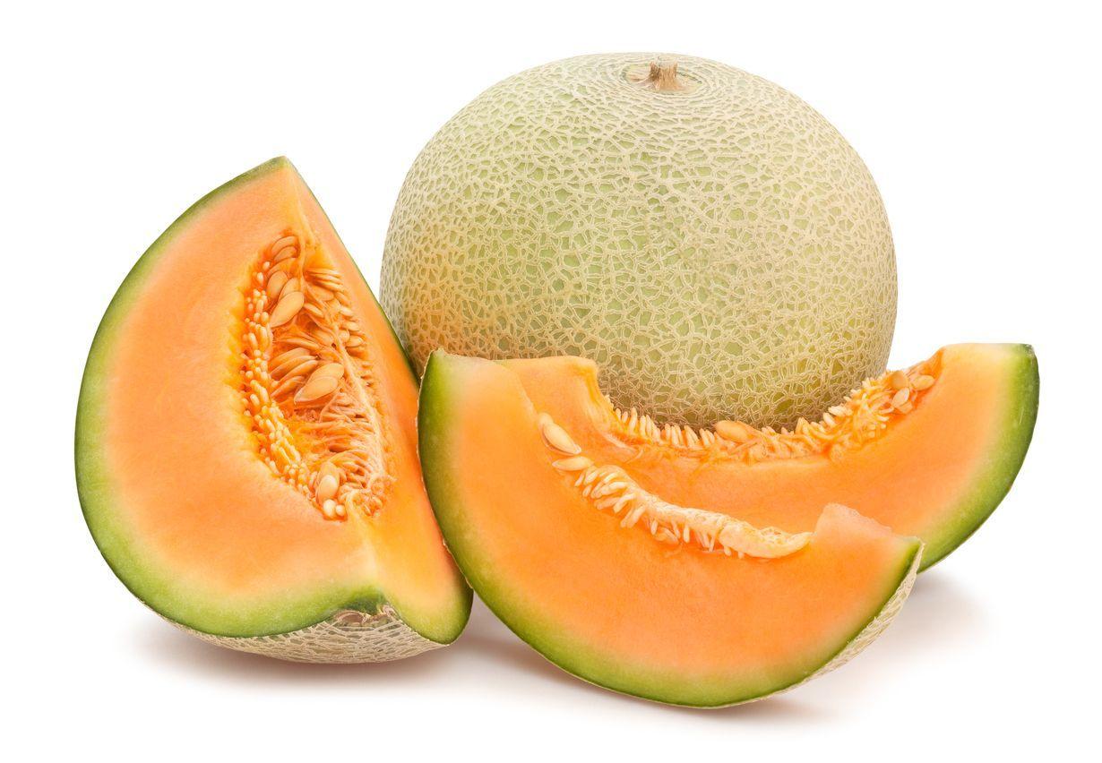 Cantaloupe melon isolated on white background. Juicy and sweet cantaloupe melon isolated on white background