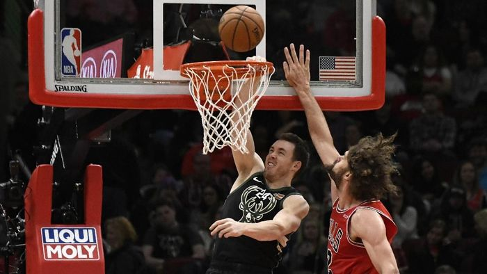 Milwaukee Bucks menang atas Chicago Bulls 117-106 dalam lanjutan NBA (Foto: David Banks-USA TODAY Sports)