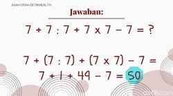 Matematika mungkin jadi salah satu mata pelajaran yang dibenci di bangku sekolah. Tapi matematika juga salah satu cara terbaik untuk mengasah ketajaman otak.