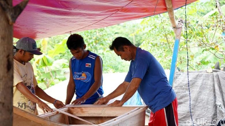 Foto: Orang Sangir, pelaut dan pembuat kapal ulung dari Sulawesi (Wahyu/detikTravel)