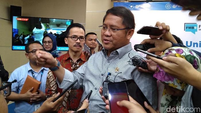 Menkominfo Rudiantara membeberkan potensi startup unicorn berikutnya dari Indonesia. (Foto: Muhamad Imron Rosyadi/detikINET)