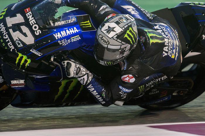 Maverick Vinales tercepat di hari terakhir tes MotoGP Qatar. Foto: Mirco Lazzari gp / Getty Images