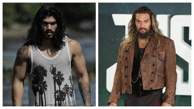 Gaya dan posturnya mirip Jason Momoa pemeran Aquaman.