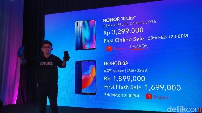 Honor 10 Lite dan Honor 8A. (Foto: Muhamad Imron Rosyadi/detikINET)