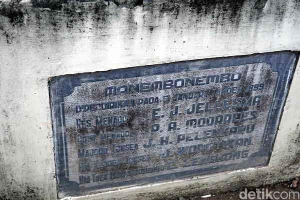 Di prasasti di depan gereja, tertera tanggal 5 Januari 1899 sebagai tanggal berdirinya gereja. Jika benar, itu berarti gereja ini sudah genap berusia 120 tahun. (Wahyu/detikTravel)