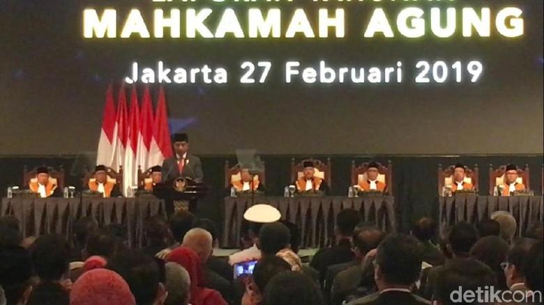 Jokowi Hadiri Laporan Akhir Tahun MA di JCC