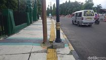 Guiding Block untuk Tunanetra di Cilegon Banyak Nabrak Tiang