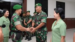 16 Perwira Tinggi TNI AD Naik Pangkat