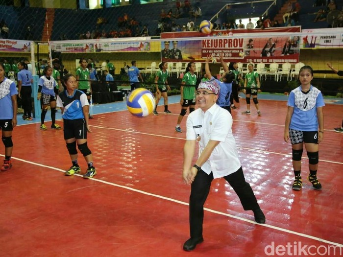 Kejuaraan Provinsi Bola Voli remaja/Foto: Ardian Fanani