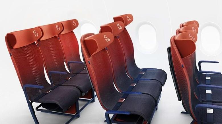 Desain kursi ekonomi Airbus (LAYER/CNN Travel)