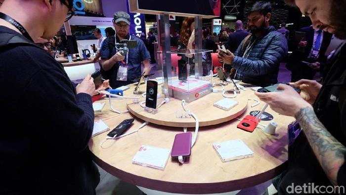 Sejumlah smartphone anyar hadir di MWC 2019 dan sukses mencuri perhatian. (Foto: Ardhi Suryadhi/detikINET)