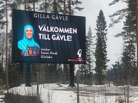 Papan Ucapan Selamat Datang Pakai Foto Hijabers di Swedia Tuai Protes