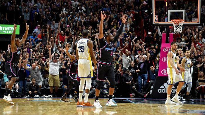 Miami Heat menang 126-125 atas Golden State Warriors dalam lanjutan NBA (Foto: Steve Mitchell-USA TODAY Sports)