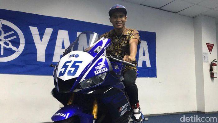 Rider tim Yamaha Moto X Racing Galang Hendra Pratama. (Foto: Redzi Arya Pratama/detikSport)