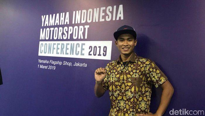 Pebalap Yamaha Indonesia Galang Hendra Pratama. (Foto: Redzi Arya Pratama/detikSport)