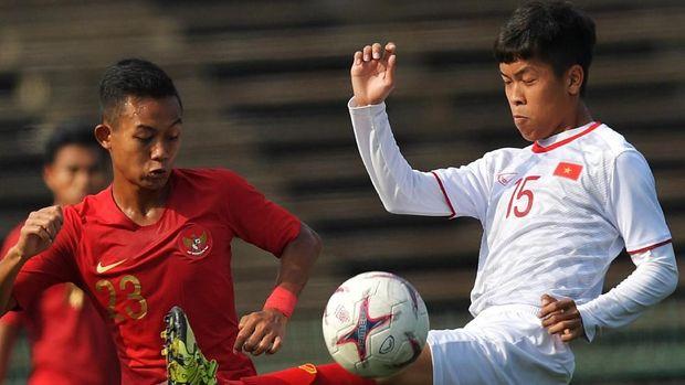 Timnas Indonesia U-22 kalahkan Vietnam di semifinal Piala AFF U-22.
