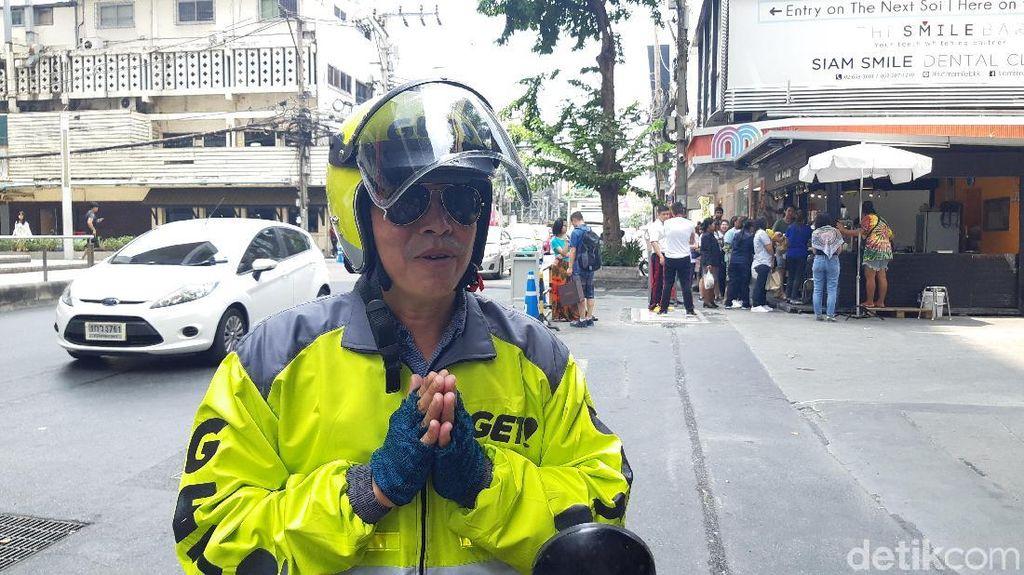 Biasa Naik Go-Jek? Kalau yang Ini Aksi Driver Get di Thailand