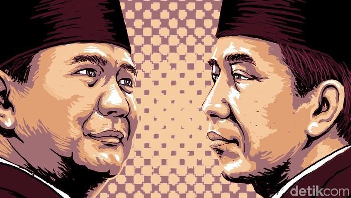 Ilustrasi Jokowi-Prabowo (Foto: Edi Wahyono)